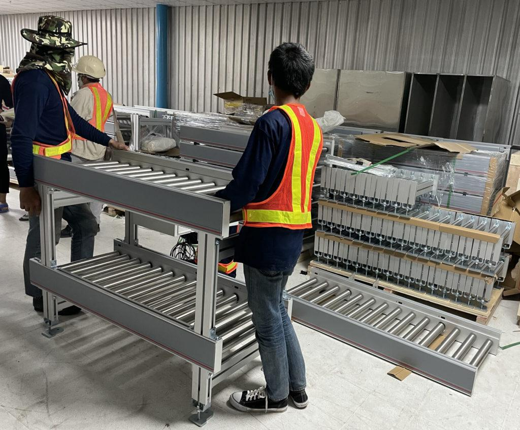 assembly conveyors for AGV automation